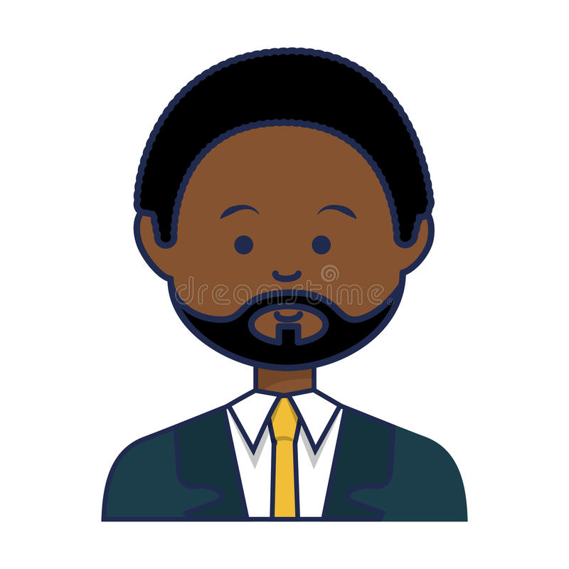 African businessman ethnicity avatar character vector illustration