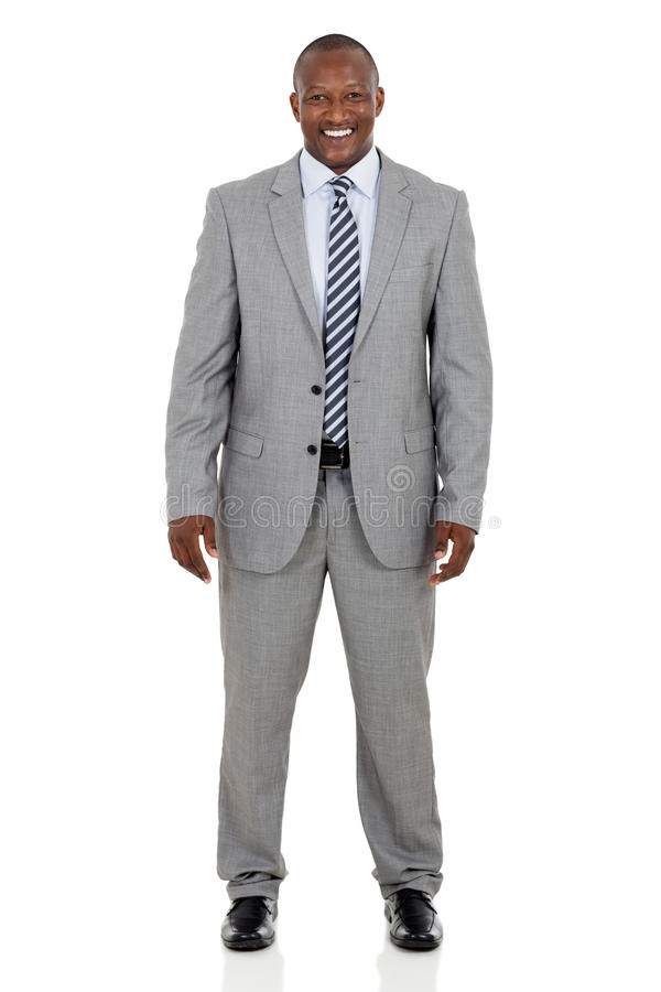 African businessman. Professional african businessman isolated on white background royalty free stock image
