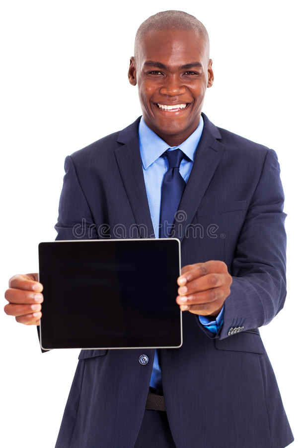 Download African businessman tablet stock photo. Image of length - 29449906