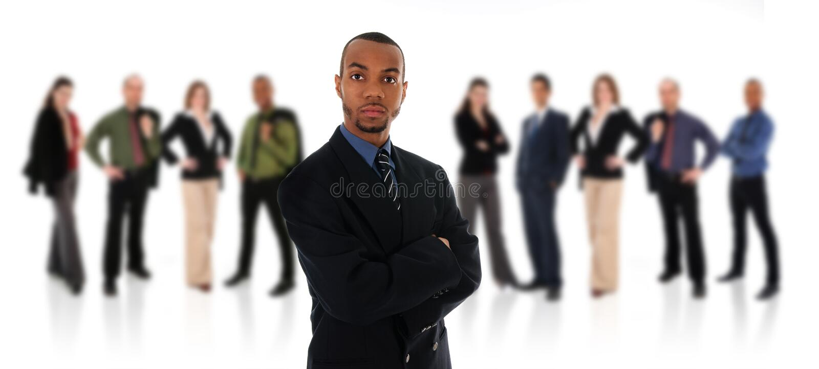 African Businessman and Team stock photo