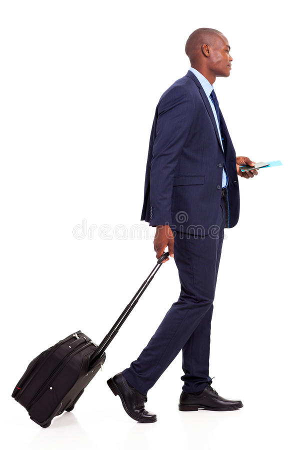 African Businessman Walking Royalty Free Stock Photos