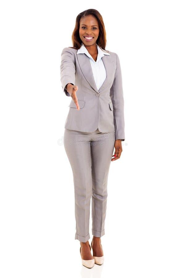 African businesswoman handshake royalty free stock photography