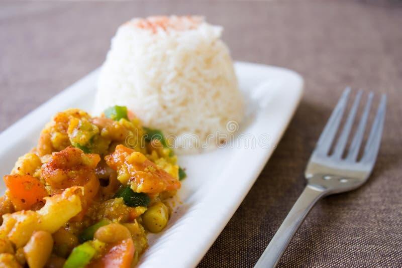 African Cauliflower Beans Dish royalty free stock image