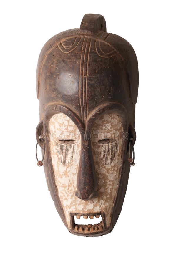 Free African Ceremonial Carved Mask Royalty Free Stock Photography - 99790417