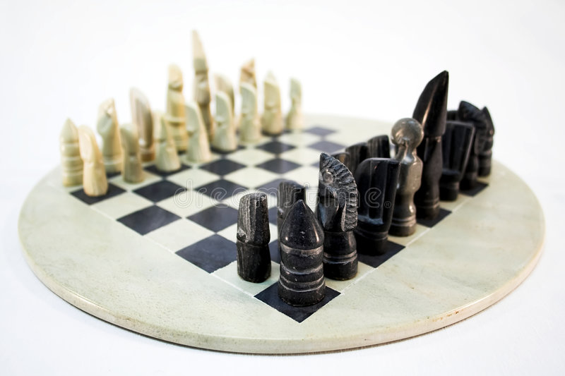 African chess game royalty free stock images