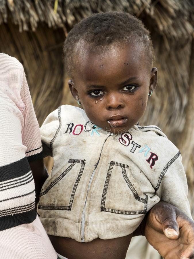African child in ghana royalty free stock photo