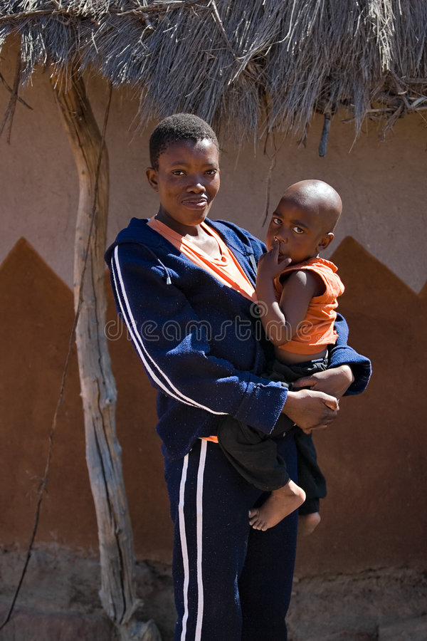 African Child And Mother Stock Photo