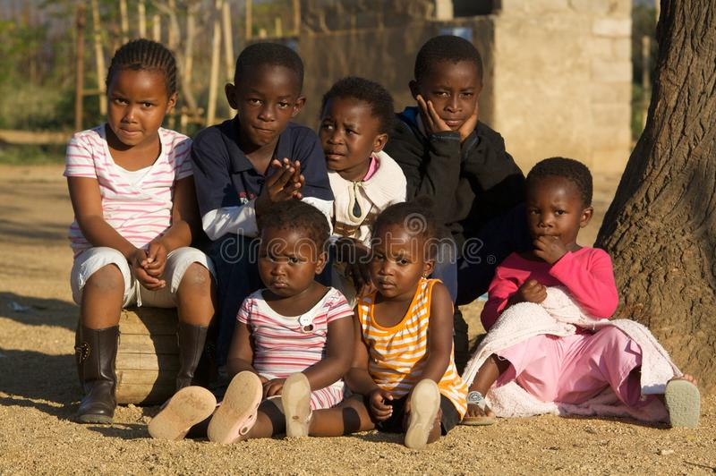 African Children. A group photo of some african children from the township in Barberton South Africa. South African Town near by : Barberton in Mpumalanga