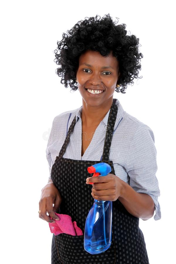 Download African Cleaning Woman stock photo. Image of isolated - 22286334