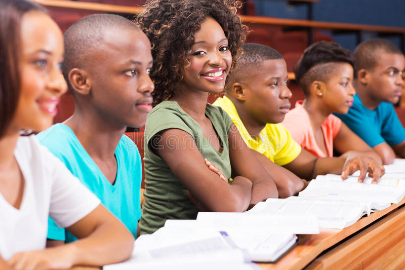 African college students royalty free stock photos