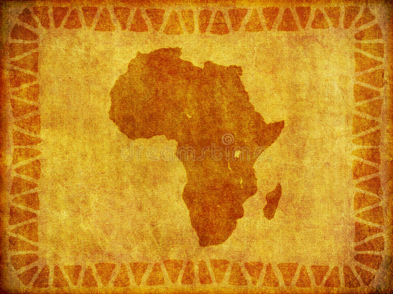 African Continent Grunge Background Royalty Free Stock Photos