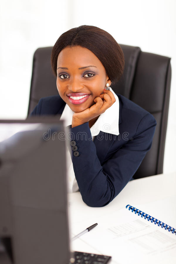 African Corporate Worker Royalty Free Stock Photography