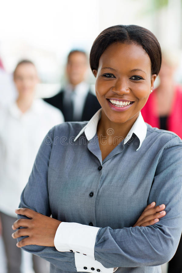 African corporate worker royalty free stock photos