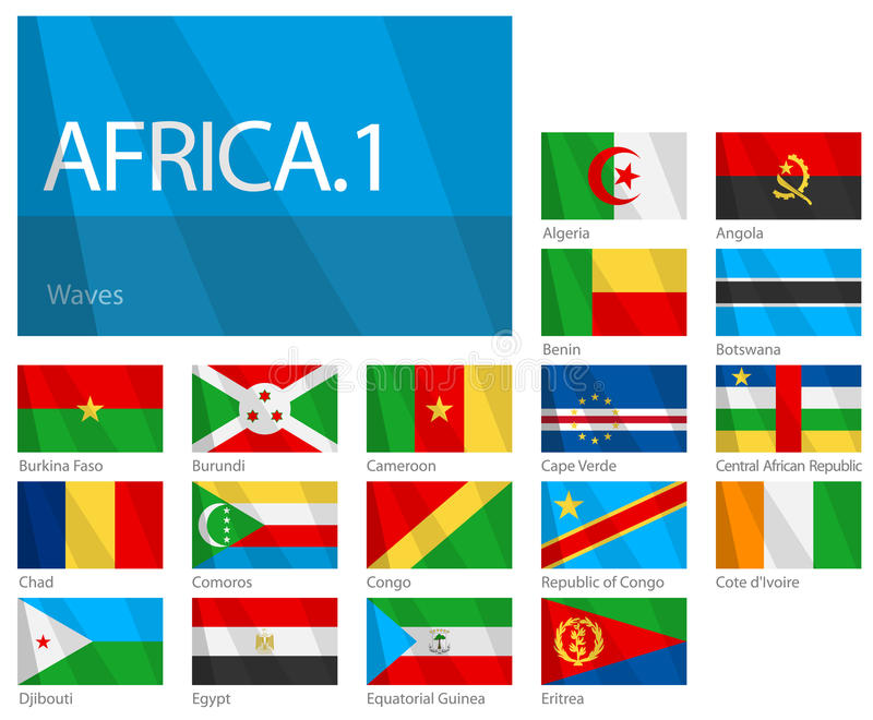 African Countries - Part 1. World Flags Series vector illustration