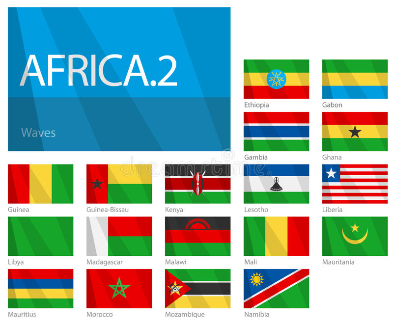 African Countries - Part 2. World Flags Series vector illustration
