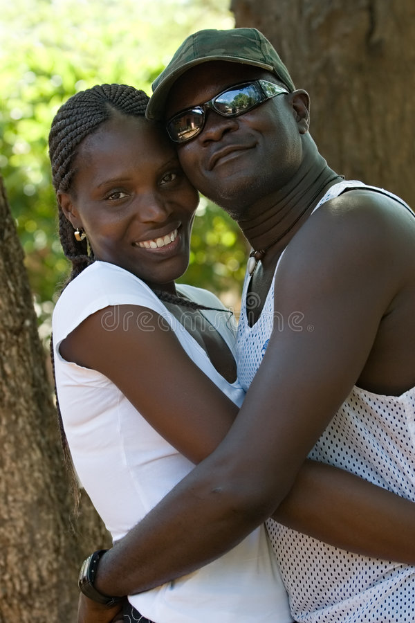 African couple stock image