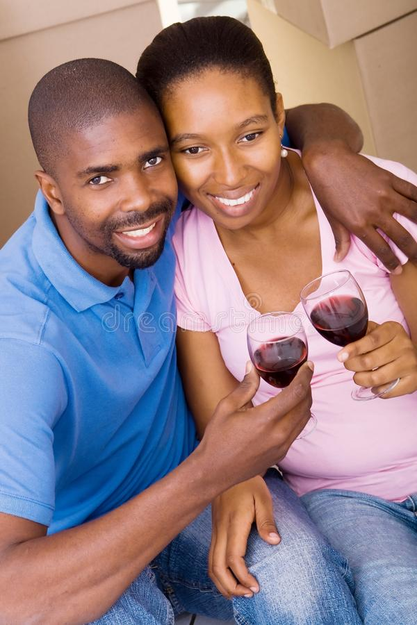 African Couple Celebrate Stock Images