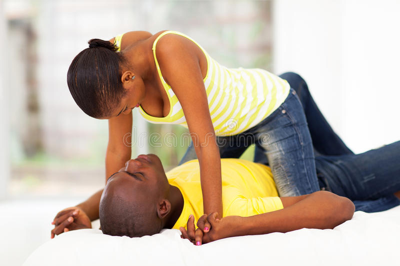 Download African couple flirting stock image. Image of boyfriend - 30492709