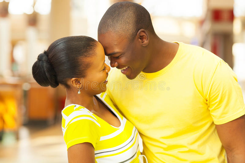 African couple flirting royalty free stock image