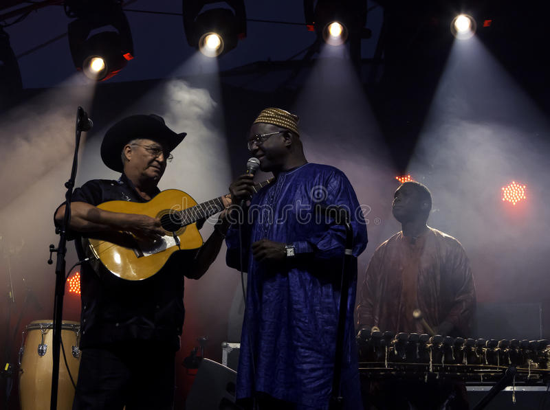 The African-Cuban collaboration Afrocubism perform