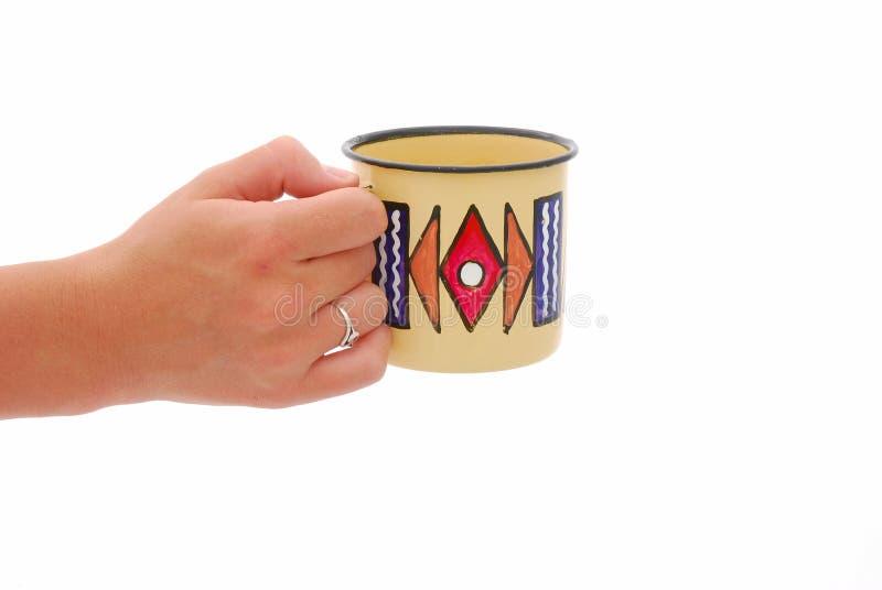 african cup hand στοκ φωτογραφίες με δικαίωμα ελεύθερης χρήσης
