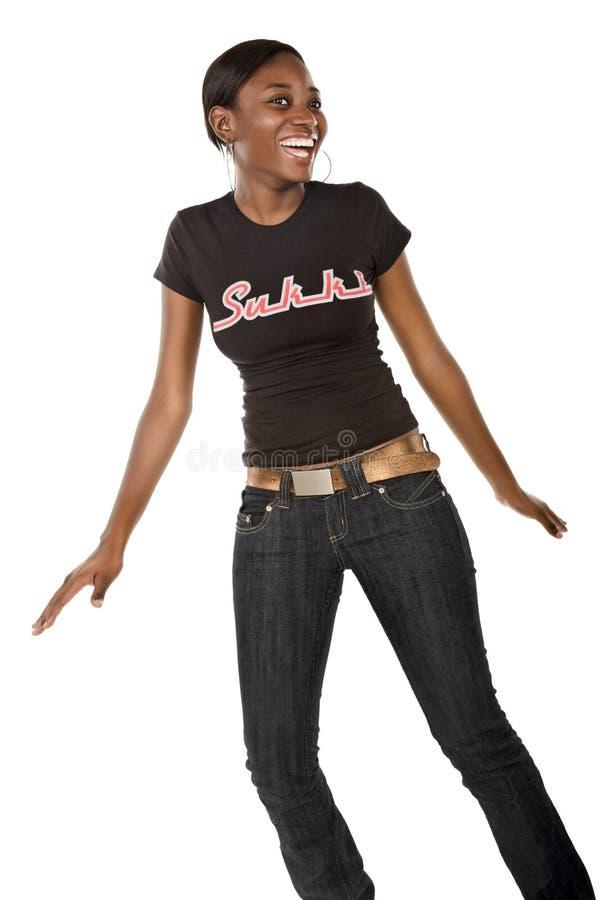 african dancing girl στοκ εικόνες