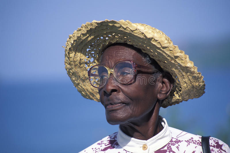 African descendant, Trinidad. PORT-OF-SPAIN, TRINIDAD AND TOBAGO - AUGUST 7, 2006. The majority of the people of Trinidad and Tobago (West Indies) are of African stock photo