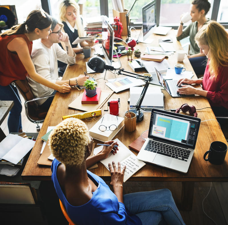 African Descent Brainstorming Working Workplace Concept royalty free stock images