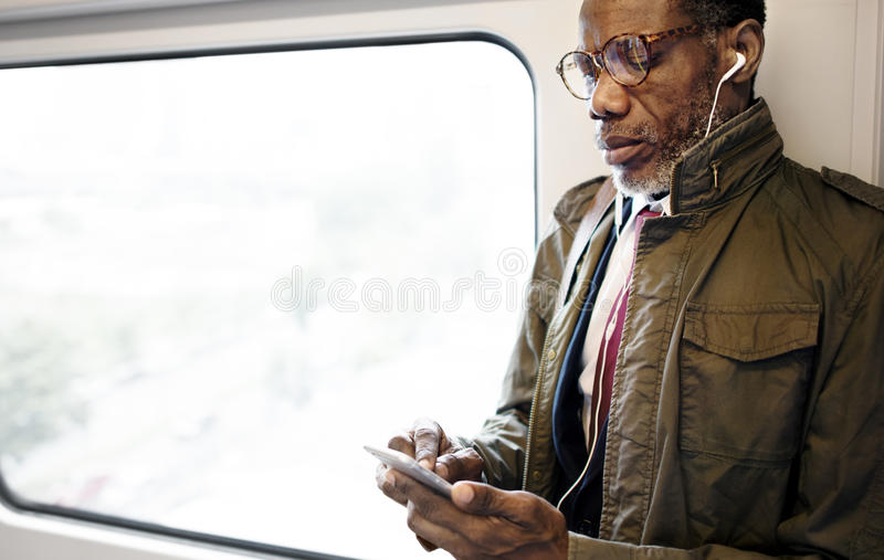 African Descent Business Skytrain Transit Urban Concept royalty free stock images