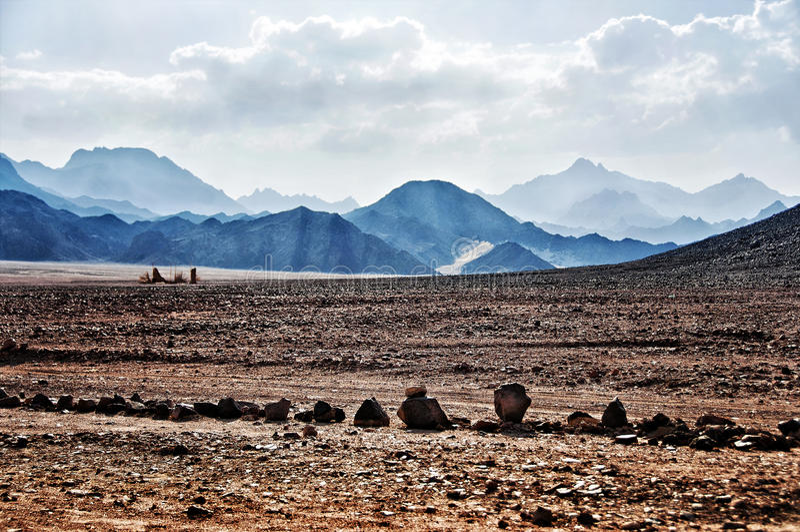 African desert in Hurghada royalty free stock photos