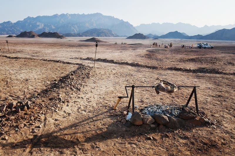 African desert in Hurghada stock image
