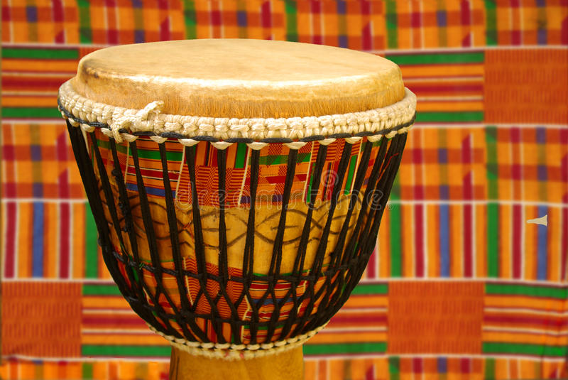Download African Djembe With Kente Cloth Stock Photo - Image: 15555716