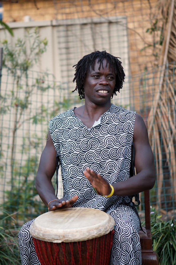 Download African Djembe Player stock photo. Image of male, festival - 22256066