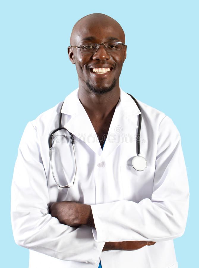 African doctor royalty free stock images