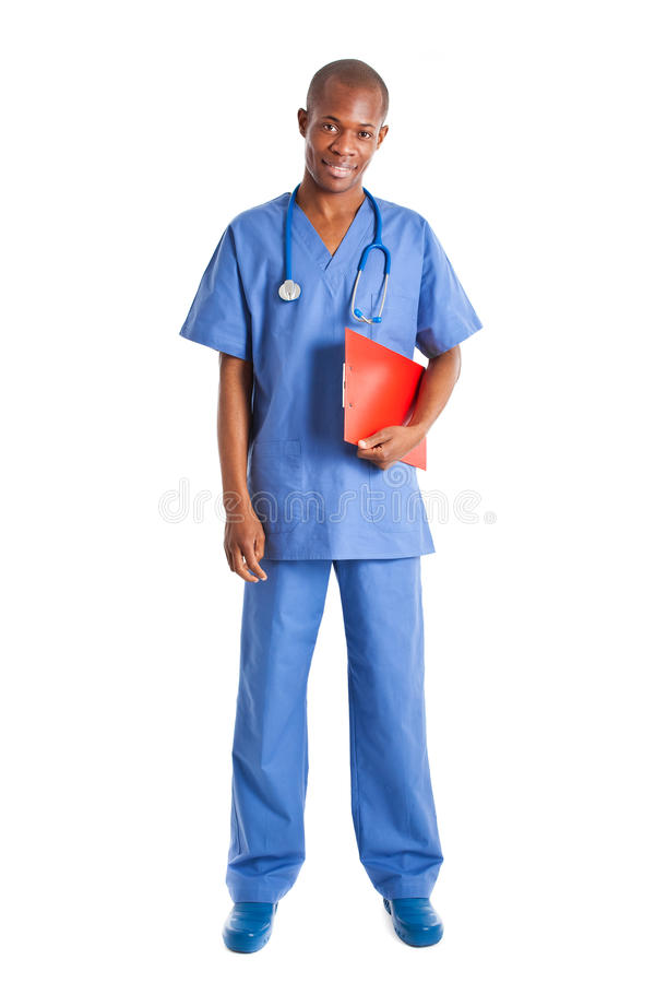Download African doctor full length stock image. Image of professional - 24308343