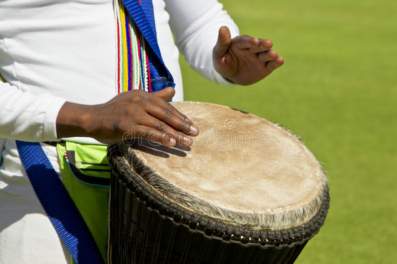 African drummers hand and drum stock photo