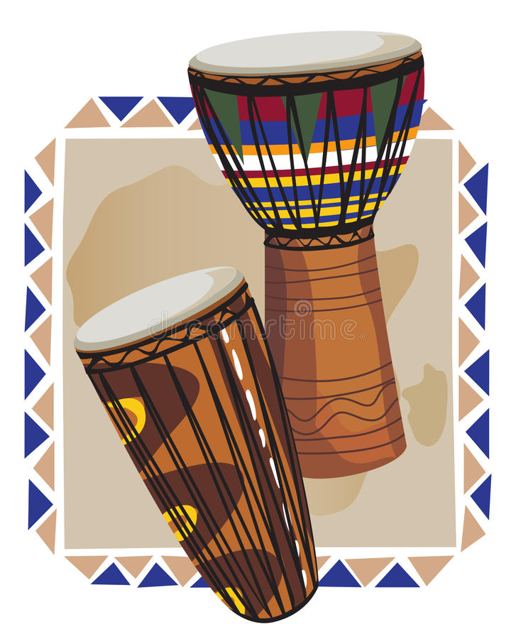 African Drums stock illustration
