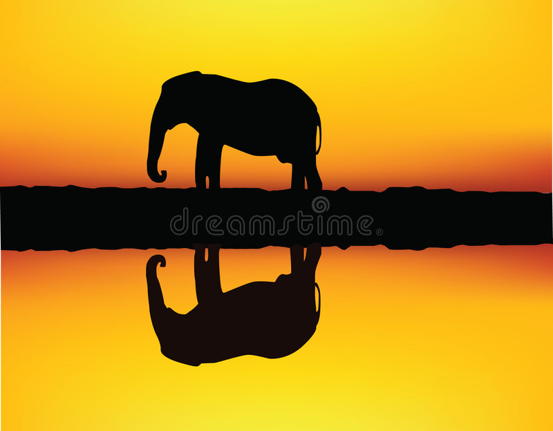 Download African elephant stock vector. Illustration of glowing - 6951702
