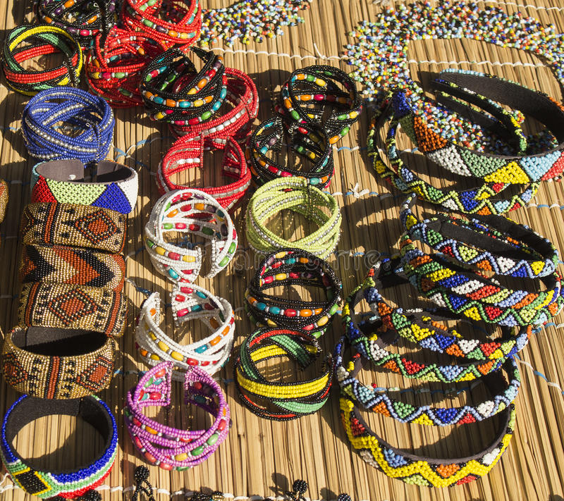 African ethnic handmade beads necklaces and bracelets for How to make african jewelry crafts