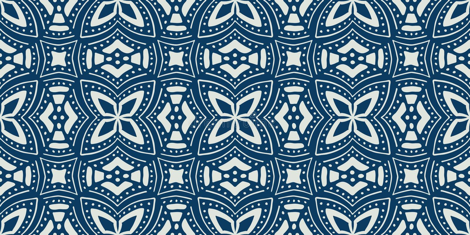 African ethnic seamless pattern. Vector illustration royalty free illustration
