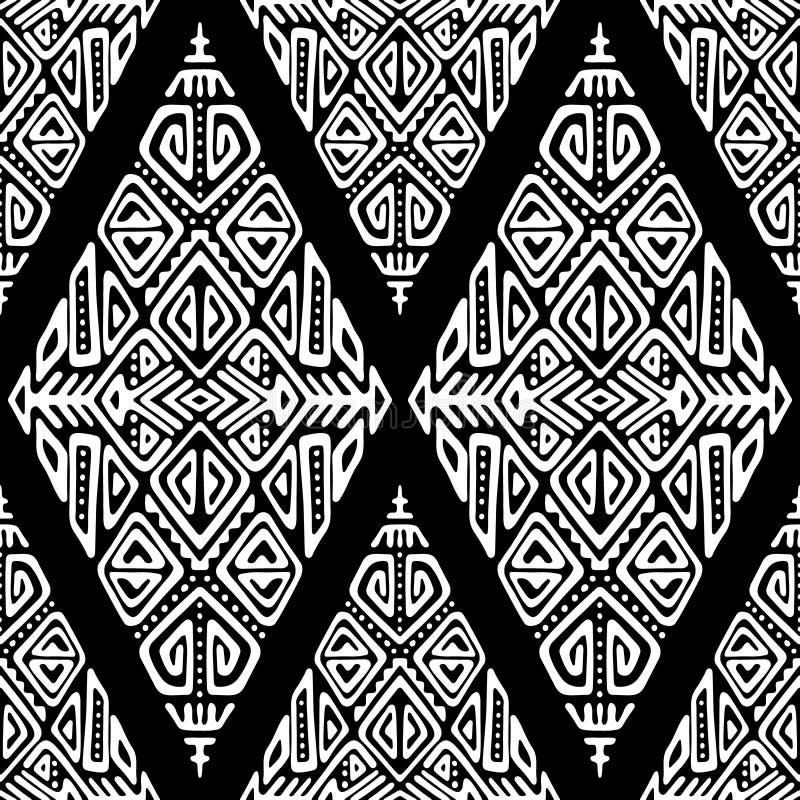 African Ethnic Style Vector Seamless Pattern stock illustration