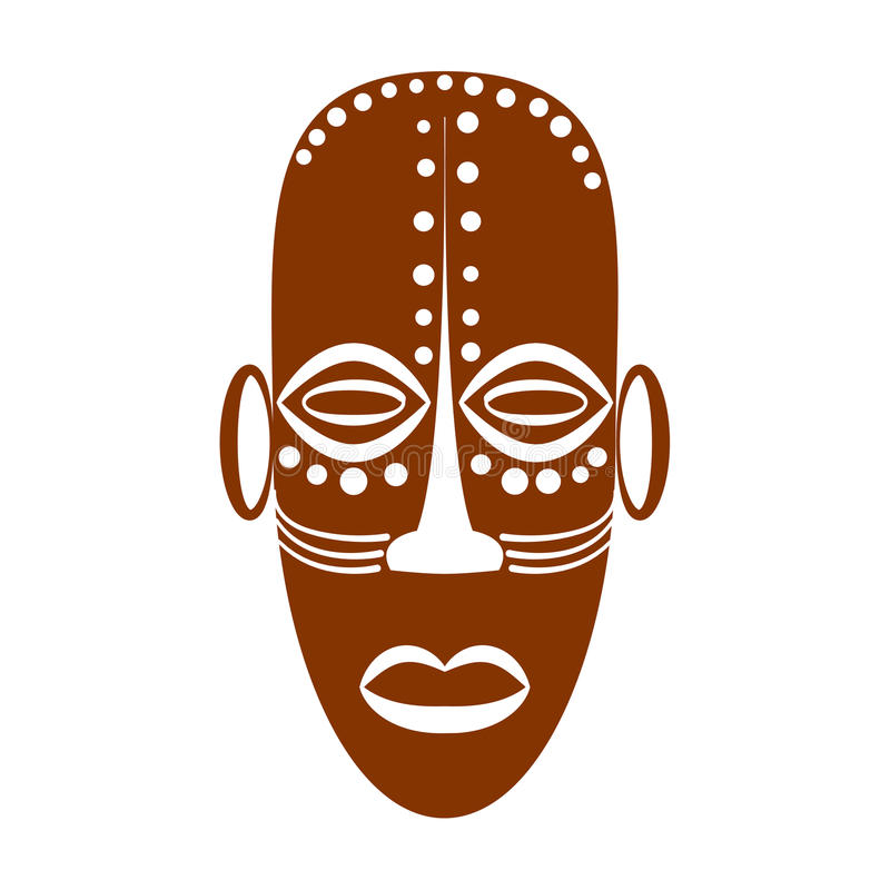 African Ethnic Tribal Mask Stock Vector Illustration Of Isolated