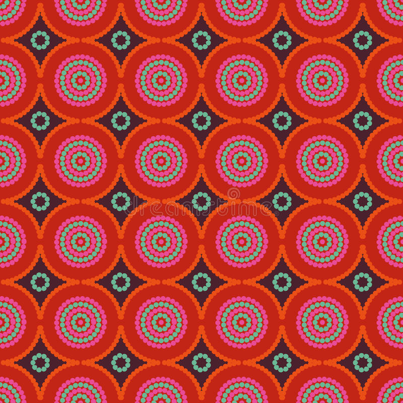 African ethno abstract seamless pattern with decorative folk elements background royalty free illustration