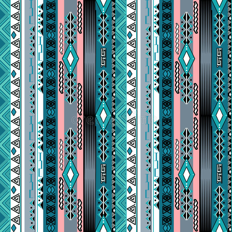 African ethno abstract seamless tribal pattern with decorative f stock illustration