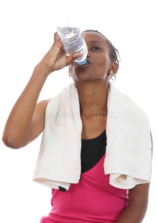 Download African Exercise Girl Drinking Water Stock Image - Image of beauty, fitness: 23227489