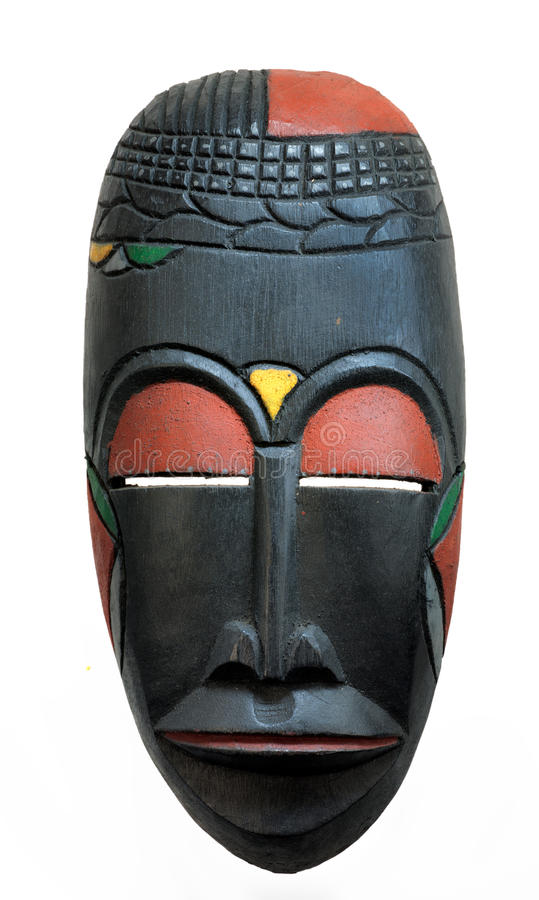 African Face mask. stock image
