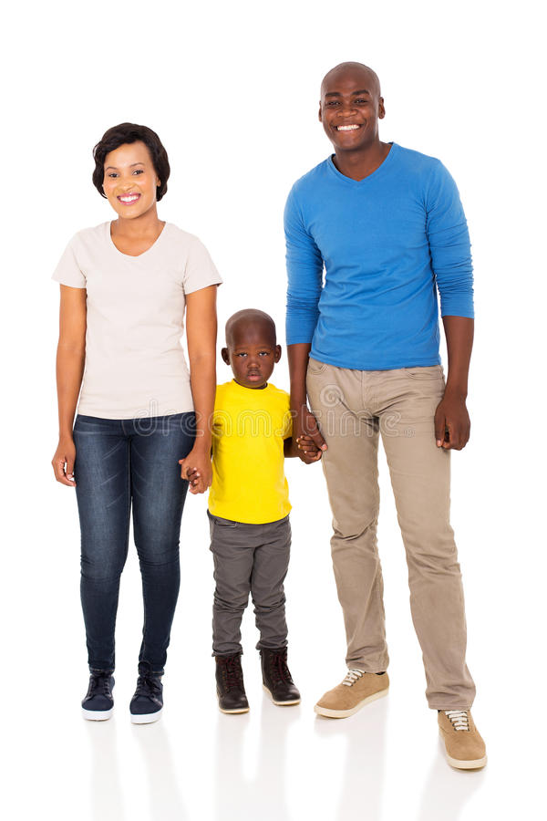 African family holding hands. Happy african family holding hands isolated on white royalty free stock images