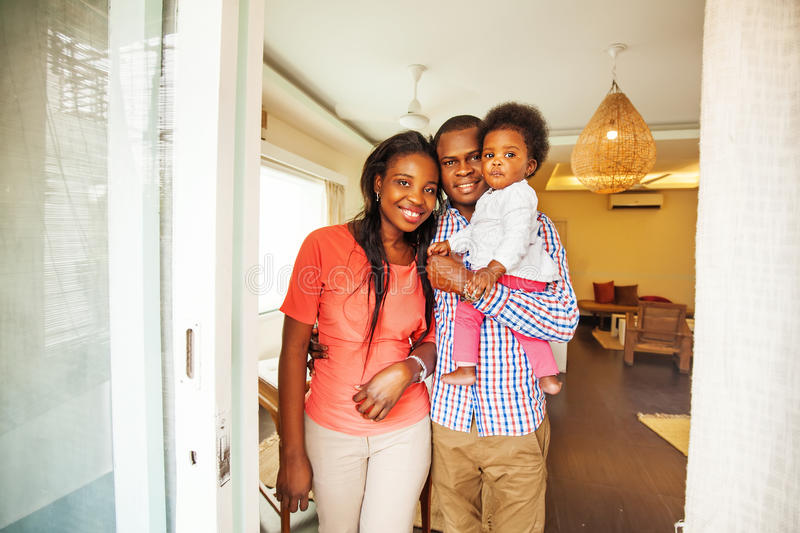 African family at home royalty free stock photos