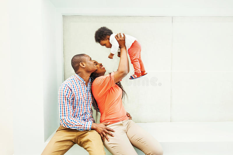 African family at home royalty free stock photography