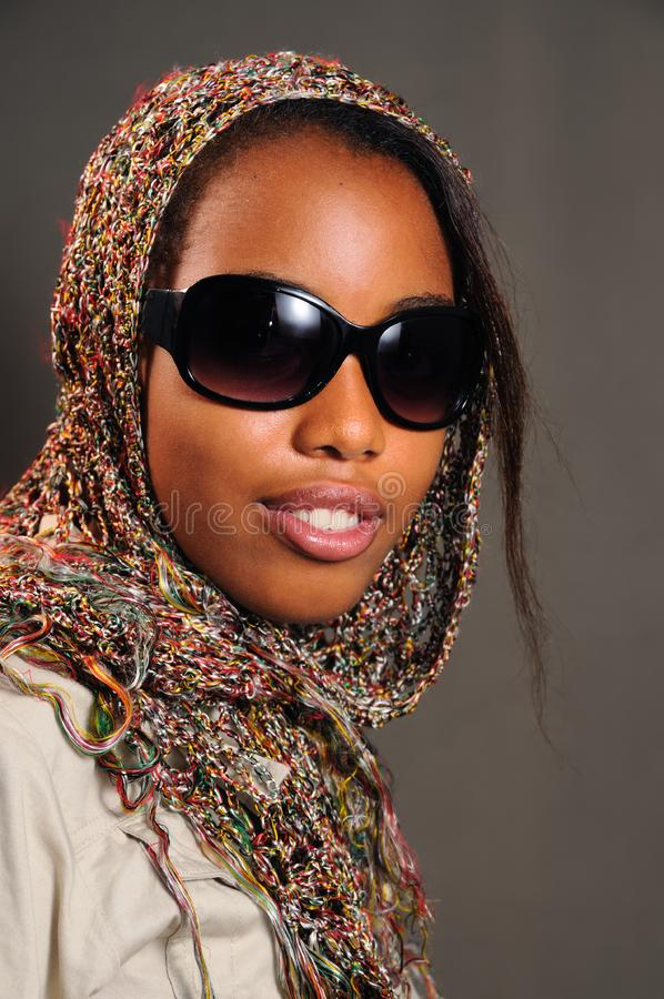 African fashion model royalty free stock photo
